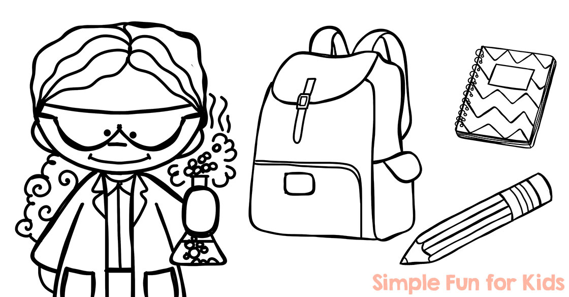 back to school coloring pages simple fun for kids - School Coloring Sheets
