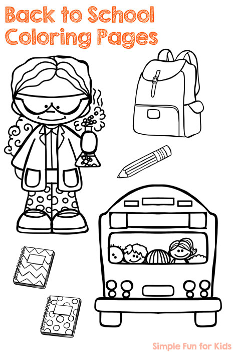 Get ready to go back to school with these fun back to school coloring pages