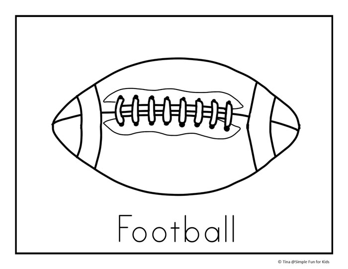 Football Coloring Pages Simple Fun for Kids