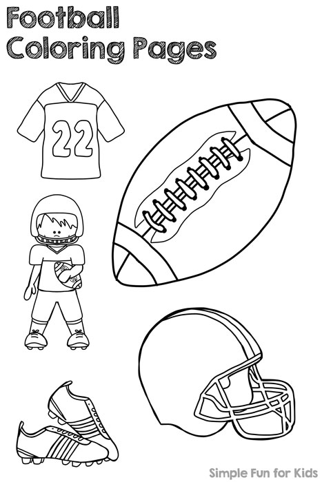 Get ready for the football season with Football Coloring Pages! (Pdf file ensures proper printing!)