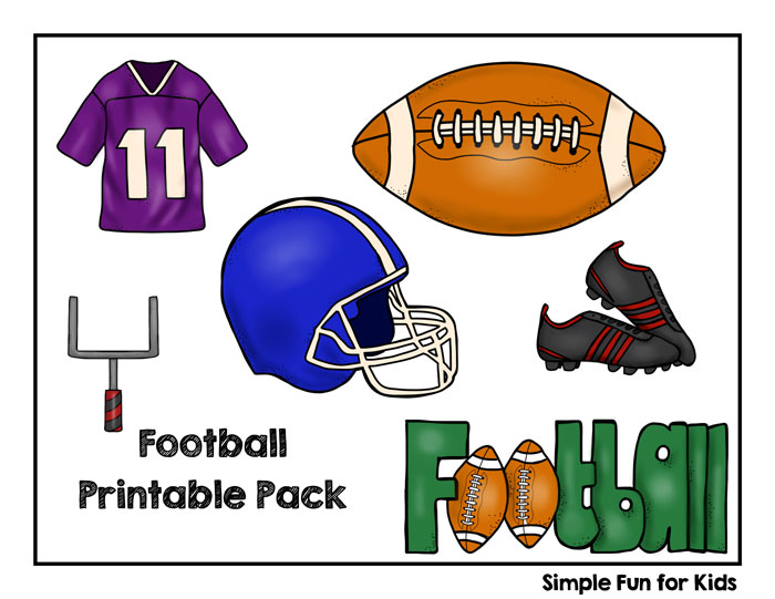 Football season is starting! Get the excitement going with this Football Printable Pack for toddlers and preschoolers!