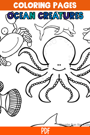 Ocean Creatures Facts & Coloring Pages