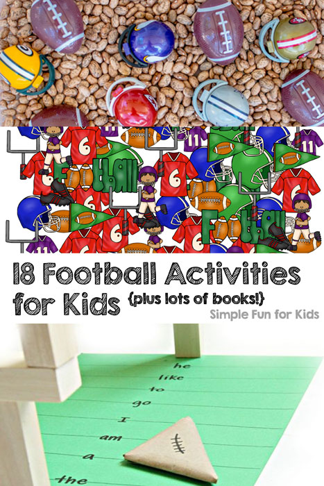18 Football Activities for Kids - learning, sensory, games, lots of books, and more!