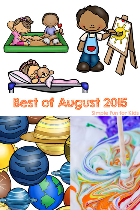 Check out the best new posts of August 2015 from Simple Fun for Kids!