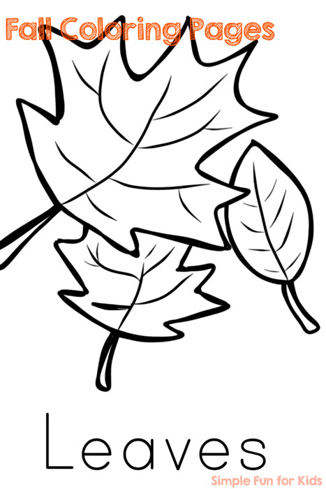 Fall Coloring Pages - Simple Fun for Kids