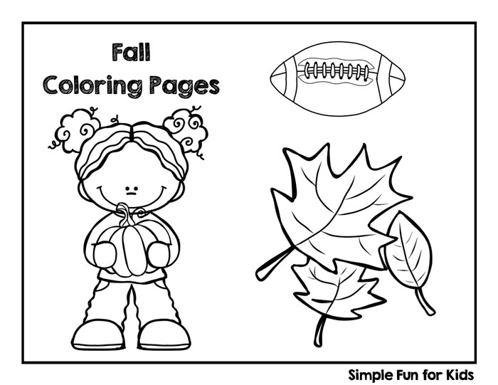 fall coloring pages simple fun for kids - Printable Coloring Pages For Kids Fall