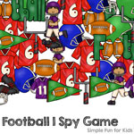 Printables for Kids: Make math practice fun with this football I Spy game!