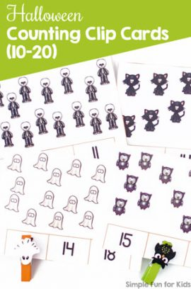 Halloween Counting Clip Cards (10-20)