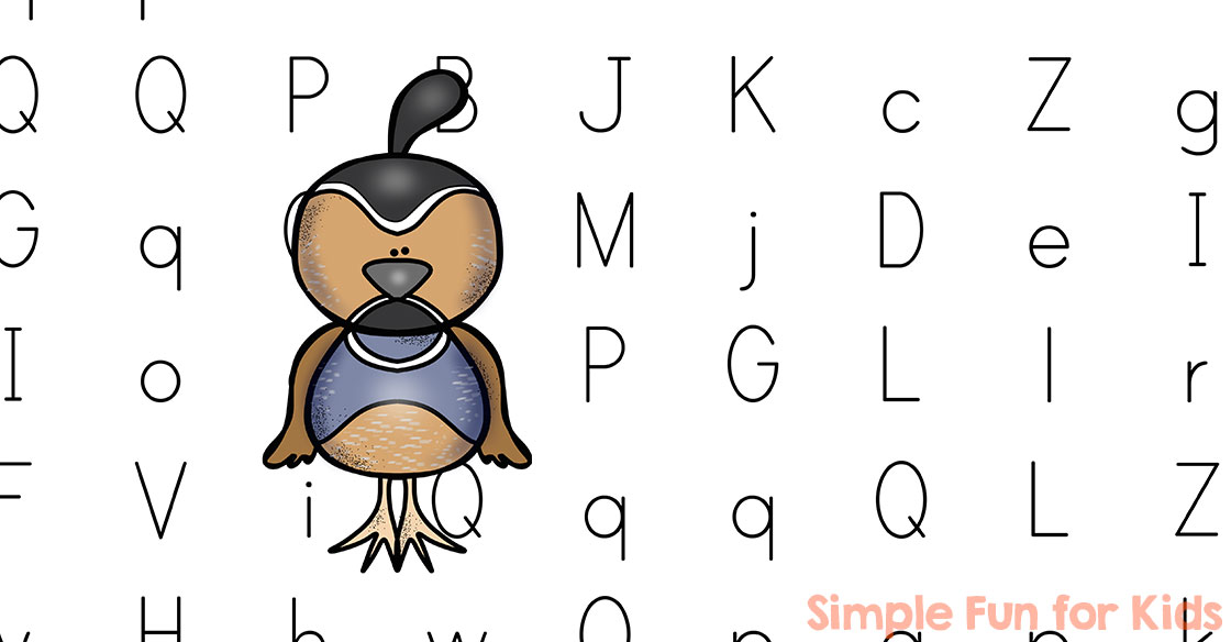 letter q maze simple fun for kids