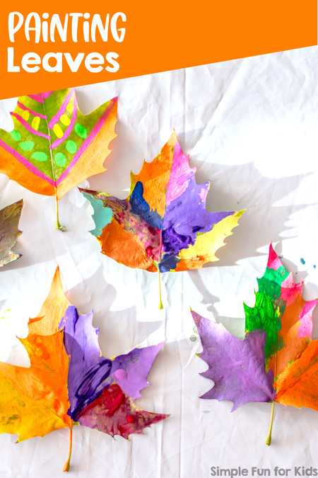 Art Projects for Kids: Painting Leaves - simple and oh so beautiful! Perfect for kids of all ages :)