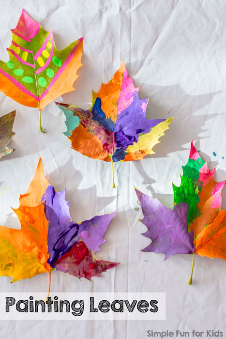 Art Projects for Kids: Painting Leaves - simple and oh so beautiful!