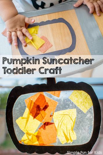 Pumpkin Suncatcher Toddler Craft