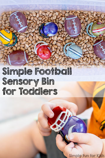 Simple Football Sensory Bin