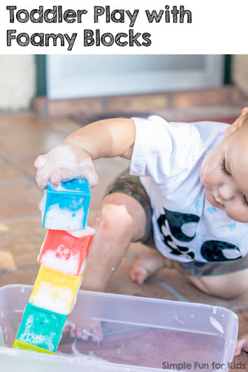 Toddler Play with Foamy Blocks