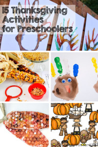 Check out these fun and simple Thanksgiving activities for preschoolers! There are crafts, art, sensory activities, science, even snacks!