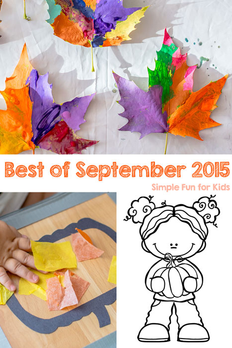Check out the best new posts of September 2015 from Simple Fun for Kids!