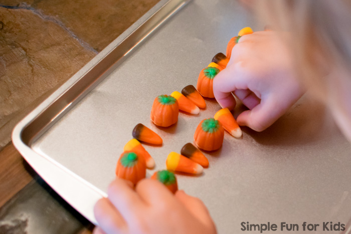 Grab some fun candy and make quick and simple Halloween candy patterns with your preschooler! You'll practice important math concepts, and you can eat your work when you're done - does it get any better?