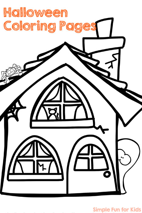 FREE Halloween Coloring Pages for Adults & Kids - Happiness is ... | 700x467