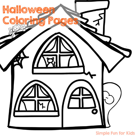 Free Printables for Kids: Fine motor coloring fun with Halloween coloring pages!