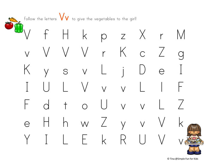 Is your toddler or preschooler learning letters? Make it more fun with this Letter V Maze!