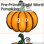 Pre-Primer Sight Word Pumpkins