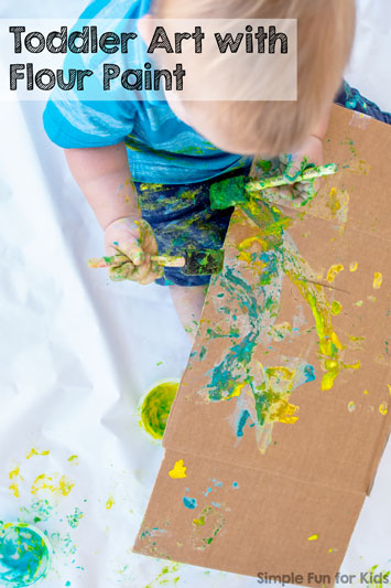 Toddler Art with Flour Paint