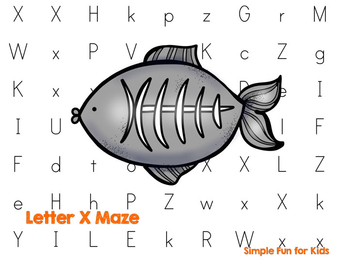 Is your toddler or preschooler learning letters? Make it more fun with this cute Letter X Maze printable!