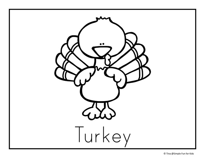 thanksgiving coloring pages simple fun for kids