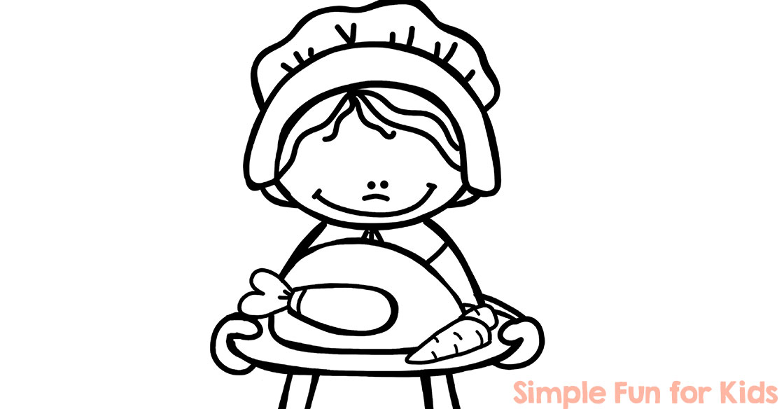 Thanksgiving Coloring Pages - Simple Fun for Kids