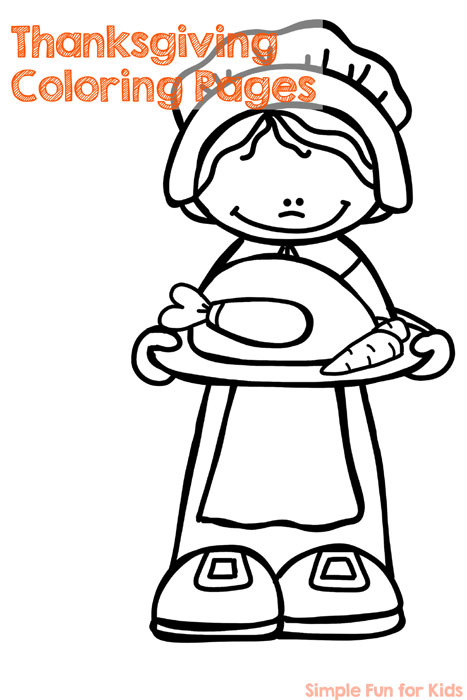 No prep Thanksgiving coloring pages! Use them to talk about the history of Thanksgiving or put them on the table at Thanksgiving dinner - individual pages can double as a placemat to keep your little ones entertained!