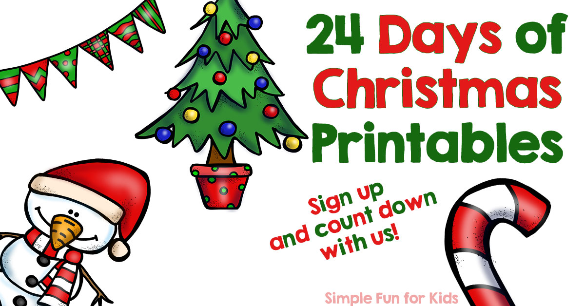 advent calendar 24 days of christmas printables simple fun for kids