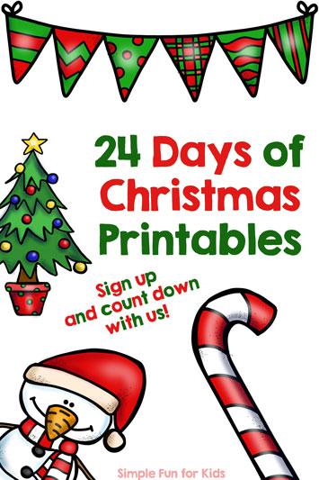 Advent Calendar: 24 Days of Christmas Printables