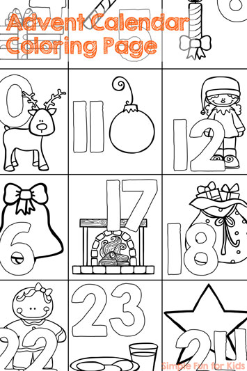 Best Of December 2015 Simple Fun For Kids Tree Advent Calendar Coloring Page