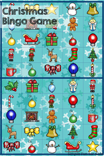 Christmas Countdown Day 12: Christmas Bingo Game