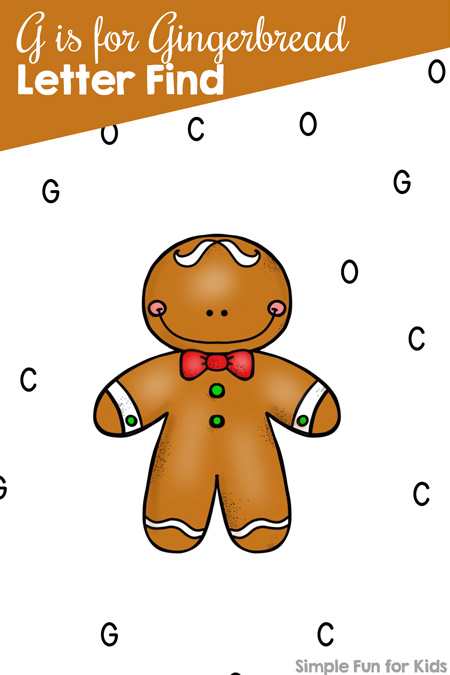 Christmas Countdown Day 22 Gingerbread Letter Find Simple Fun for