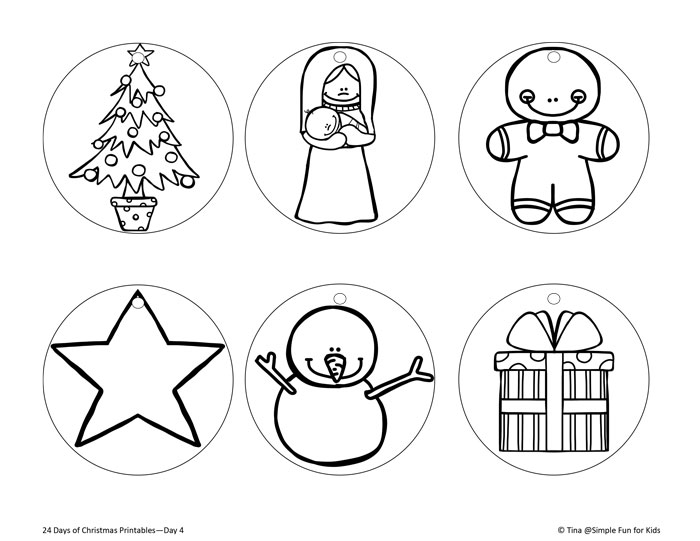 photo relating to Ornaments Printable known as Xmas Countdown Working day 4: Shade Your Private Printable