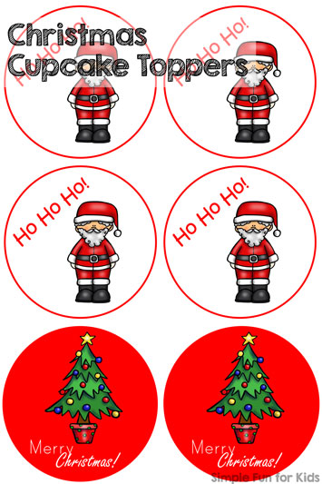Christmas Countdown Day 11: Christmas Cupcake Toppers