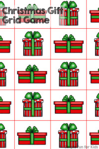 24 Days of Christmas Printables: Day 2 - play a simple Christmas gift grid game with a die, perfect for preschoolers!