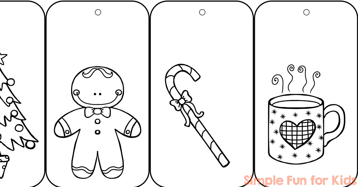 ... Color Your Own Printable Christmas Gift Tags - Simple Fun for Kids