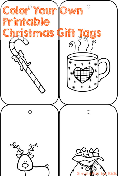 24 Days of Christmas Printables - Day 7: Personalize all gifts you give and color your own printable Christmas gift tags!