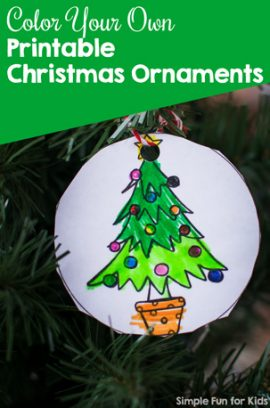 Christmas Countdown Day 4: Color Your Own Printable Christmas Ornaments