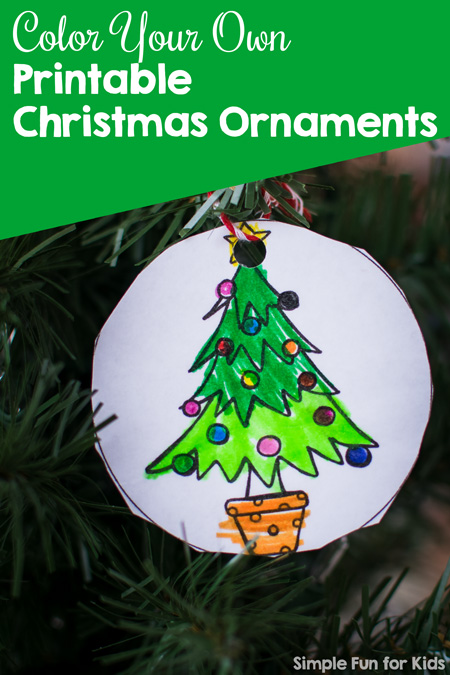 Printable Christmas Ornaments.Christmas Countdown Day 4 Color Your Own Printable