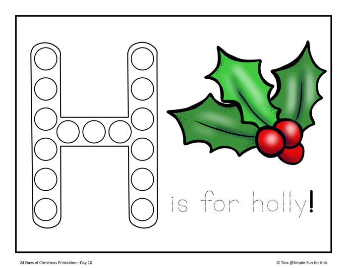 24 Days of Christmas Printables - Day 10: Color, draw, and trace a letter to Santa and show him your biggest Christmas wish!
