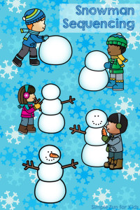 Free Printables for Kids: Do you want to build a snowman? Cute snowman sequencing printable for toddlers and preschoolers!