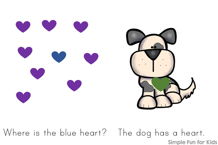 Is your child starting to read? Try this simple, colorful Hearts, Hearts, Hearts! Emergent Reader using mostly pre-primer sight words and offering an extra challenge on the last page! Perfect for your kindergartner's Valentine's Day!