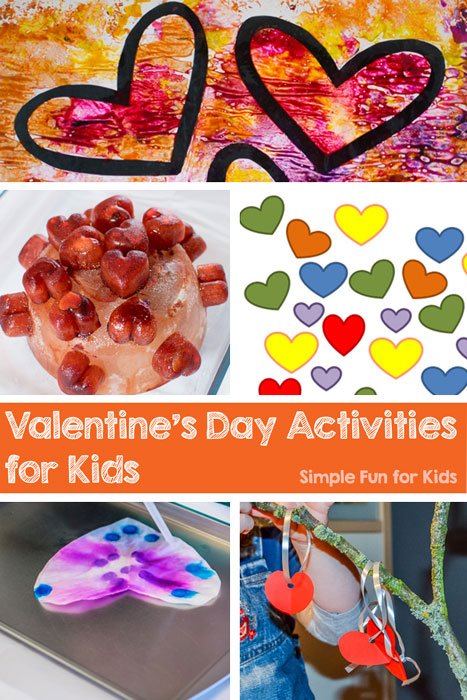 Simple Fun for Kids has 40+ fun Valentine's Day Activities for Kids for you to choose from! Printables, art, crafts, sensory, and more - something for everyone from toddlers on up!