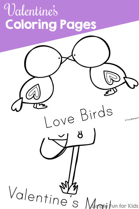 Valentine's Coloring Pages - Simple Fun For Kids