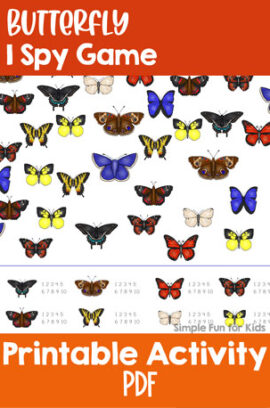 Butterfly I Spy Game Printable
