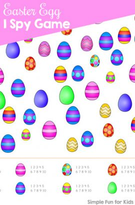 Easter Egg I Spy Game Printable