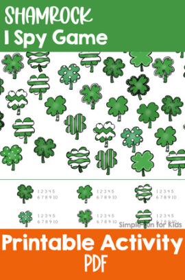 Shamrock I Spy Game Printable